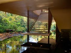 Image result for frank lloyd wright fallingwater staircase