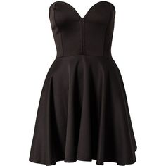 Club L Bone Detail Skater Dress (31 CAD) ❤ liked on Polyvore featuring dresses, vestidos, short dresses, robe, black, party dresses, womens-fashion, black dress, circle skirt and flared skirt