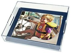 Tray with a magnetic back to put a photo of your choice into tray available at Coastal Décor, Fair Haven, NJ. check us out at: www.CoastalDecorandDesign.com
