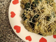 Quinoa and Spinach with Pesto Is an Easy Meal