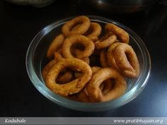 Kodubale is a traditional fried snack from Karnataka. Here is a perfect recipe as shared by Grandpa N.S.Sridharan from Bangalore. I enjoyed the way he hand-rolled these rings and fried them to a crisp golden colour