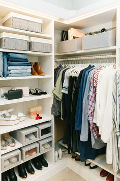 Closet organization ideas for home: How to store your shoes.