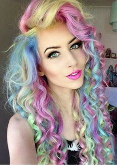 Unicorn Hair love it!! ♥