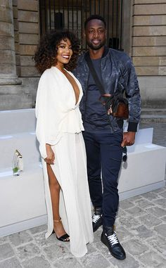 Gabrielle Union & Dwayne Wade from The Big Picture: Today's Hot Photos  Fashion forward! The couple is spotted attending the Berluti Menswear Spring/Summer 2018 show in Paris.