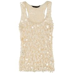 Zara SS12 Cream Embellished Top | Look, found on polyvore.com