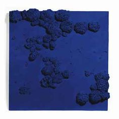 "Yves Klein ""Rélief éponge bleu (RE 51)"" 1959 Abstract Images, Abstract Art, Million Dollar Mermaid, Yves Klein Blue, Natural Sponge, Man Projects, Relief, Art For Art Sake, French Artists"