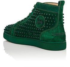 CHRISTIAN LOUBOUTIN Louis Flat Suede Sneakers #christianlouboutinsneakers #christianlouboutinflats #christianlouboutinshoes