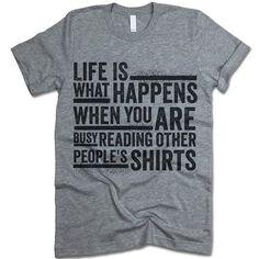 Reading Other People's Shirts #cool-shirts #fun-t-shirts #funny-shirt