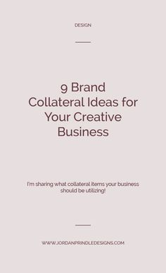 9 Brand Collateral Ideas For Your Creative Business — Jordan Prindle Designs Successful Business Tips, Creative Business, Business Ideas, Collateral Design, Branding Design, Entrepreneur, Business Branding, Business Cards, Social Media Graphics