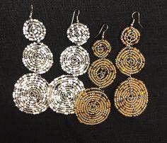 2 pairs African women earrings /African handmade Earrings / Tanzania beaded earrings /maasai beaded earrings /masai earrings