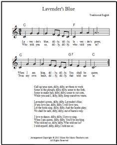 """Cinderella song lyrics and sheet music """"Lavender's Blue"""", free! This pretty lullaby featured in Cinderella (2015) is actually a very old song from England."""