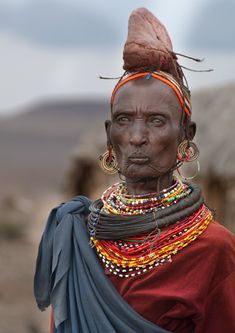 'Iron Lady'. A senior Rendille woman from a village in northern Kenya | © Alena Hašková & Zdeněk Hašek