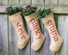Ideas Para Todos: Adornos Navidad Con Tela De Saco