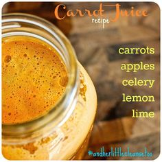 carrot juice recipe (3rd drink) - only put in one stalk of celery (or none at all) and only half a lime and lemon.