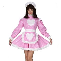 A true sissy dress must own one (or many! This beautiful sissy dress collection was designed with you in mind. French Maid Lingerie, French Maid Dress, Lace Dress Black, Pink Dress, Cosplay Outfits, Cosplay Costumes, Sexy Costumes For Women, Sissy Maid, Sissy Boy