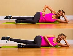 Thin thigh workout!! Pilates Side-Lying Leg Lifts: This exercise might remind you of Jane Fondas workout videos from the 80s, but its been a staple of the Pilates mat repertoire for decades. Since the knee is straight, you work all the muscles of the inner thigh group. Heres how:
