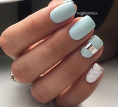 Matte white nails with a print - LadyStyle
