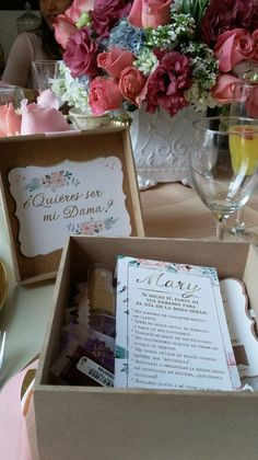 Caja invitación de dama. byAnyGalindo®