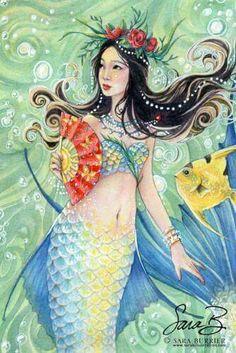 Mermaid by sarambutcher aka: Sara M. Butcher, Sara Burrier, Sara Butcher-Burrier, Sara Butcher Burrier