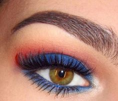 Cool Forth of July eye makeup
