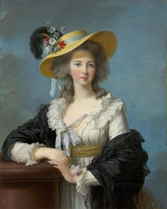 Elizabeth-Louise Vigée Le Brun French, 1755-1842 The Duchesse de Poignac Wearing a Straw Hat, 1782, Oil on canvas