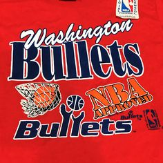 5b30aacefbdf Vintage 90s Washington Bullets NBA Kids T Shirt M 10-12 Red Graphic  Basketball Logo Brand New Old Stock 1991 Retro Sports Boys Clothing