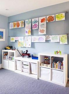Ikea Playroom Storage Kids Storage Playroom Furniture Ideas Unique Playroom Furniture Best Kids Playroom Storage Ideas On Playroom Ikea Toy Storage Cubes Playroom Design, Playroom Decor, Kids Playroom Colors, Family Room Playroom, Modern Playroom, Modern Bedroom, Colorful Playroom, Cheap Playroom Ideas, Modern Kids Rooms