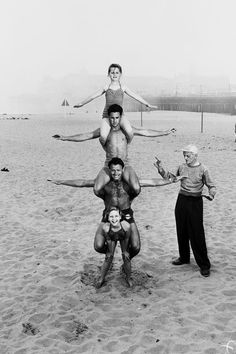 12 year old April Atkins on Muscle Beach, California, 1950s