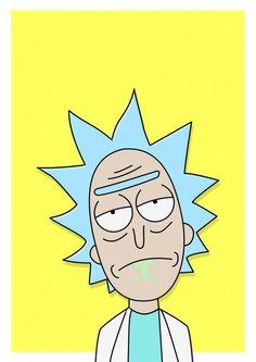 Rick Sanchez (Rick and Morty): TeNi Cartoon Drawings, Cartoon Art, Easy Drawings, Drawing Cartoon Characters, Trippy Painting, Cartoon Painting, Painting Canvas, Hippie Painting, Small Canvas Art