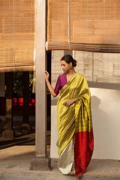 Meet The Most Gentle Silk Sarees From This Leading Designer - Christmas-Desserts Sari Design, Indian Fashion Designers, Indian Designer Wear, Saree Color Combinations, Designer Silk Sarees, Saree Trends, Stylish Sarees, Elegant Saree, Saree Look