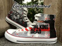 Hand Painted Converse Custom Painted Canvas Sneaker Best Presents for Men Women on Etsy, $83.99
