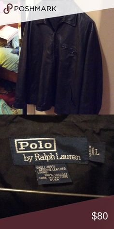 Polo leather  jacket Very soft like butter leather jacket! Polo by Ralph Lauren Jackets & Coats