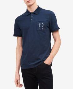 Calvin Klein Men's Logo Pocket Polo - Green XXL