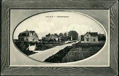 "Telemark fylke Skien Heselberggaden. Fint ""rammekort"" Utg A. Ørmen, postgått 1912"
