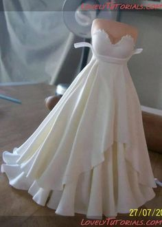 Vestido de novia paso a paso Wedding dress tutorial