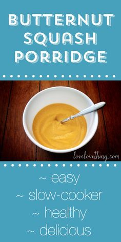 Butternut squash porridge - a delicious, naturally sweet grain-free breakfast idea.