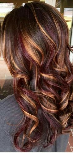 12 Trendy Ideas For Hair Color Ideas For Brunettes With Lowlights Red Haircuts 12 idee alla moda per i capelli idee di colore per brune con Lowlights tagli di capelli rossi – hariankoran Brown Hair Balayage, Hair Color Balayage, Ombre Hair, Hot Hair Styles, Curly Hair Styles, Winter Hairstyles, Cool Hairstyles, Hairdos, Hairstyle Ideas