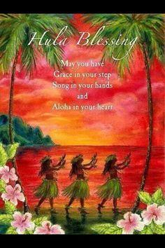 Hula Blessing Aloha in your Heart Print Hawaii Hula, Aloha Hawaii, Hawaii Travel, Vintage Hawaii, Big Island, Island Life, Hawaiian Quotes, Aloha Quotes, Hawaiian Phrases