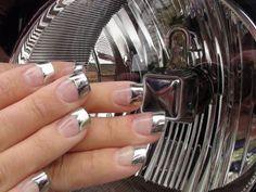 Chrome nail polish! #motorcycle #cars #racing #harley