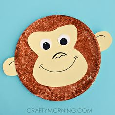 Paper Plate Monkey Fun Paper Plate Crafts For Kids Easy - Its Time For Some Monkey Business Lets Do A Paper Plate Monkey Craft Its Fun And Super Silly Weve Made A Whole Bunch Of Paper Plate Animal Crafts Already As Paper Plates Are Kids Crafts, Zoo Crafts, Monkey Crafts, Paper Plate Crafts For Kids, Daycare Crafts, Toddler Crafts, Monkey Art Projects, Summer Crafts, Craft Projects