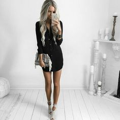 Hair goals | that outfit is paired perfectly with those heels