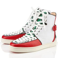 #Christian Louboutin Alfie Flat Leather Sneakers Multicolor