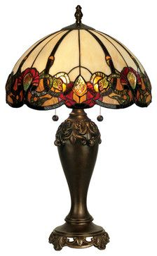 Dale Tiffany TT90235 Northlake Table Lamp - transitional - Table Lamps - Lighting Front