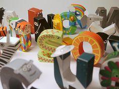 DIY print and fold alphabet by Digitprop