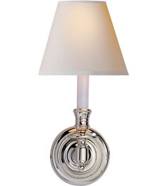 Visual Comfort Studio French 1 Light Decorative Wall Light in Polished Nickel S2110PN-NP12hx6w 80 10 inch extension