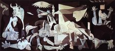 """Guernica (1937), painted as an immediate reaction to the Nazi's devastating casual bombing practice on the Basque town of Guernica during Spanish Civil War.  During WWII in Paris, Picasso was often harassed by the Gestapo. During one search of his apartment, an officer saw a photograph of the painting Guernica. """"Did you do that?"""" the German asked Picasso. """"No,"""" he replied, """"You did."""""""