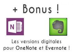Pour l'achat de mon kit d'organisation maison, recevez les versions digitales à télécharger pour les applications Evernote et OneNote ! A découvrir sur lutetiaflaviae.com