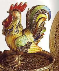 """Detail of the Faberge """"Rooster"""" Egg"""