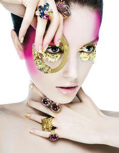 """Shine On"" | Model: Amina Kaddur, Photographer: Andreas Stavrinides, Vogue Greece, January 2008"