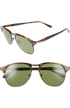 Free shipping and returns on Persol 56mm Keyhole Sunglasses at Nordstrom.com. A keyhole bridge enhances the handsome vintage style of handmade Italian sunglasses featuring mixed-media frames and tempered glass lenses.